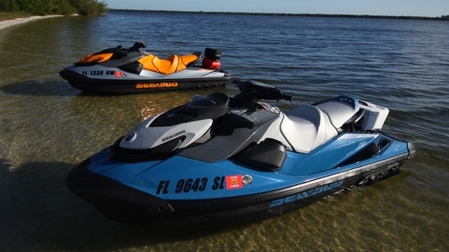 Blue and Orange Seadoo GTI SE 170