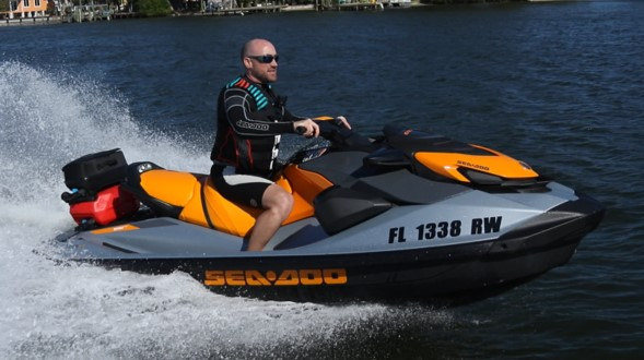 2020 Seadoo GTI SE 170, new seadoo, orange crush seadoo, orange seadoo, beach blue metallic and lava grey seadoor, GTI SE 130, GTI SE 170, 2020 Recreation, Personal Water Craft, BRP, Ergolock, VTS, LinQ, watertight phone box, three person seadoo