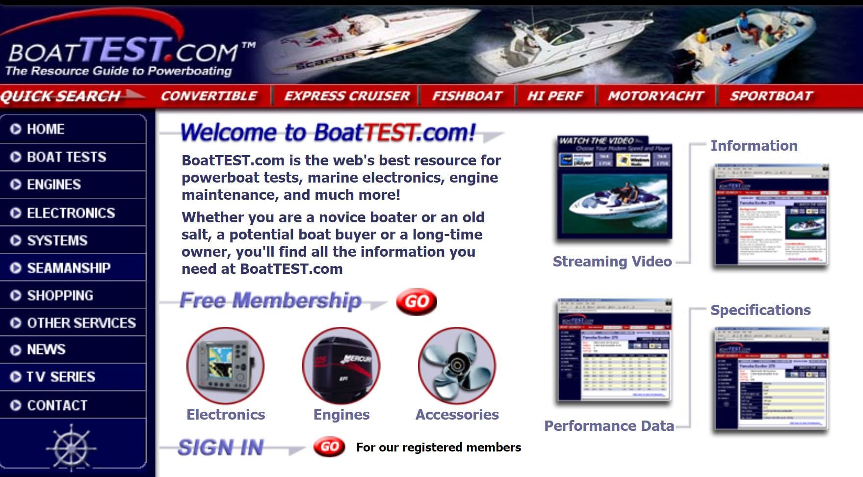 Old Boattest Website