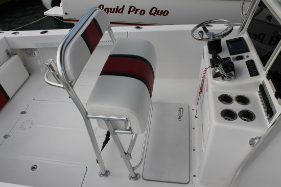 Bluewater 2550 helm leaner seat