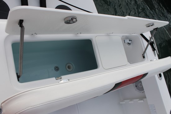 Bluewater 2550 transom livewell