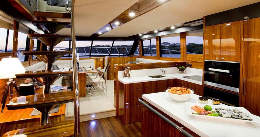 Maritimo M64 galley deck