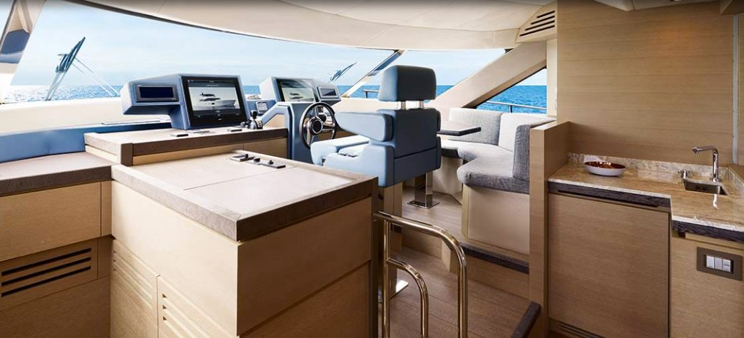 Monte Carlo Yachts 80 lower helm