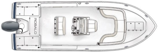 Robalo 246 Cayman overhead interior layout