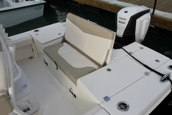 Robalo 246 Cayman SD stern seat up
