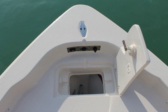 Sea Chaser 23 LX anchor compartment