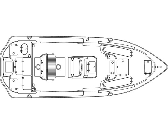 Sea Chaser 23 LX layout plan