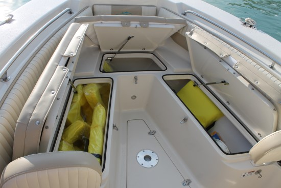 Sea Chaser 24 HFC storage compartments