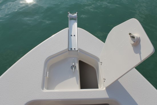 Sea Chaser 24 HFC anchor hatch open