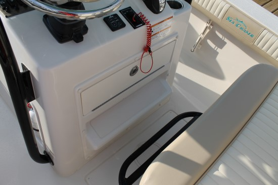 Sea Chaser 24 HFC molded footrest