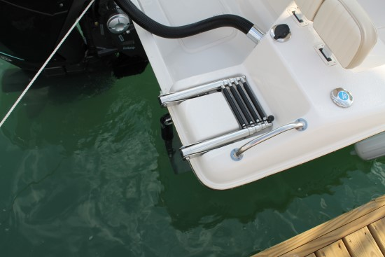 Sea Chaser 24 HFC swim ladder