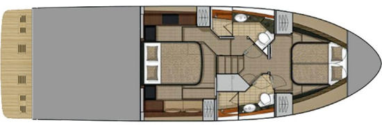 Sea Ray Fly 460 cabin plan