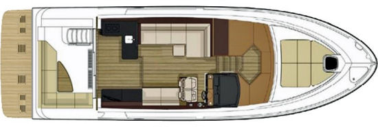 Sea Ray Fly 460 deck plan