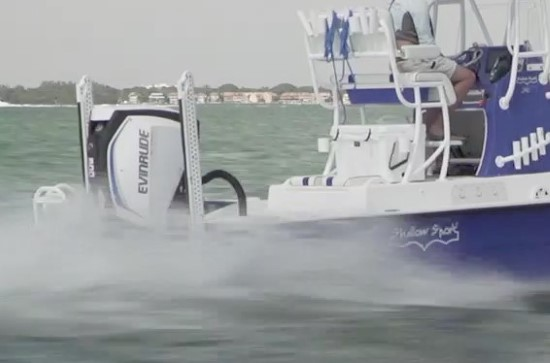 Shallow Sport 25 X3 test boat power