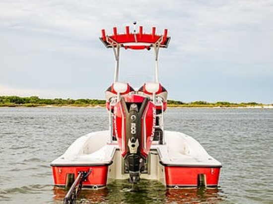 Tiburon ZX-25 outboard transom
