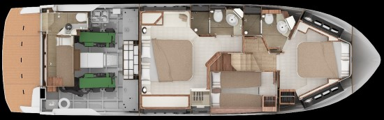 Absolute 58 Fly lower deck layout