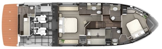Absolute 58 Fly yacht configuration