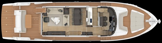 Absolute Navetta 73 main deck layout