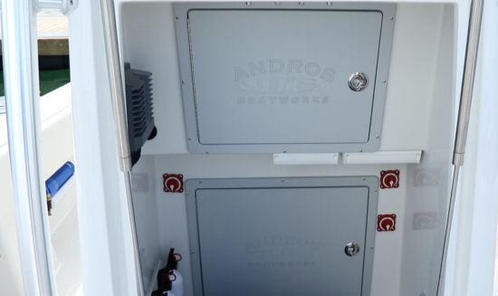 Andros Boatworks Offshore 32 battery access