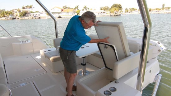 Aquila 44 port side seat