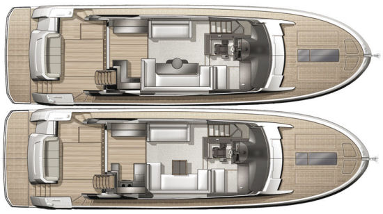 Beneteau Monte Carlo 6 main deck layouts