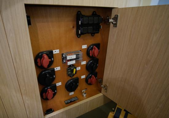 Beneteau Oceanis Yacht 62 battery switches