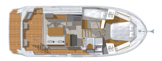 Beneteau Swift Trawler 35 layout