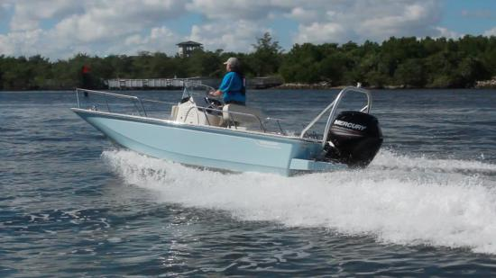 Boston Whaler 170 Montauk running