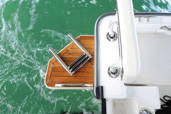 Boston Whaler 170 Montauk swim platform
