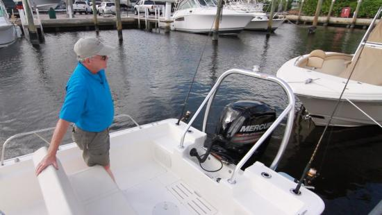 Boston Whaler 170 Montauk tow arch