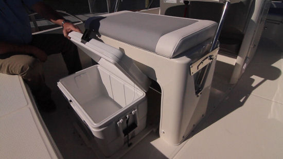Boston Whaler 210 Dauntless carry on cooler
