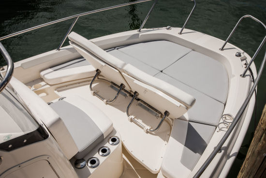 Boston Whaler 210 Dauntless chaise lounges