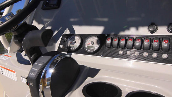 Boston Whaler 210 Dauntless dual gauges