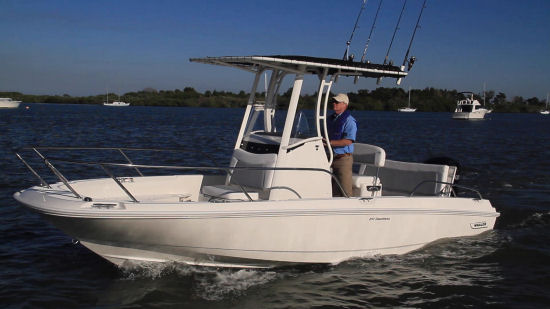 Boston Whaler 210 Dauntless casting platform