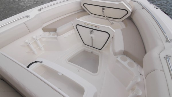 Boston Whaler 230 Outrage bow storage