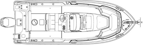 Boston Whaler 230 Outrage layout