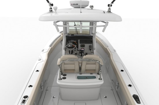 Boston Whaler 250 Outrage leaning post