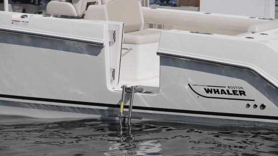 Boston Whaler 330 Outrage dive ladder