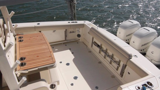 Boston Whaler 380 Outrage buffet table