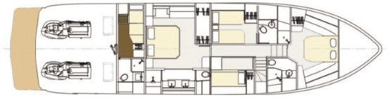 Cheoy Lee Bravo 72 accommodations layout