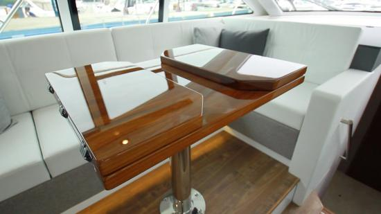 Cruisers Yachts 46 Cantius wood table