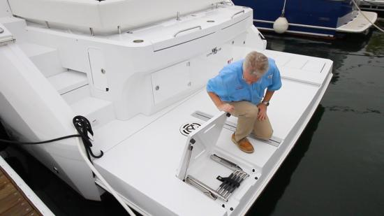 Cruisers Yachts 46 Cantius ladder