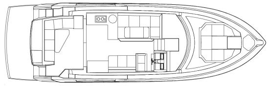 Cruisers Yachts 46 Cantius layout