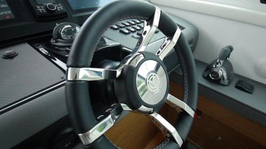 Cruisers Yachts 46 Cantius steering wheel