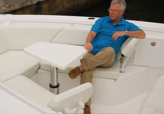 Everglades 335CC bow table