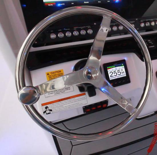 Everglades 335CC steering wheel