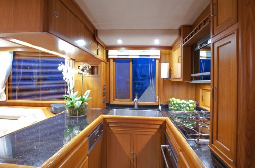 Fleming 55 galley