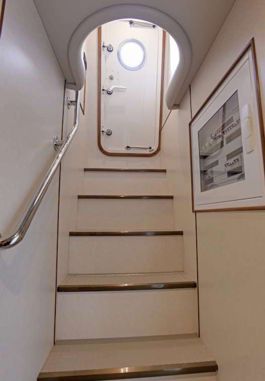 Fleming Yachts 78 access door
