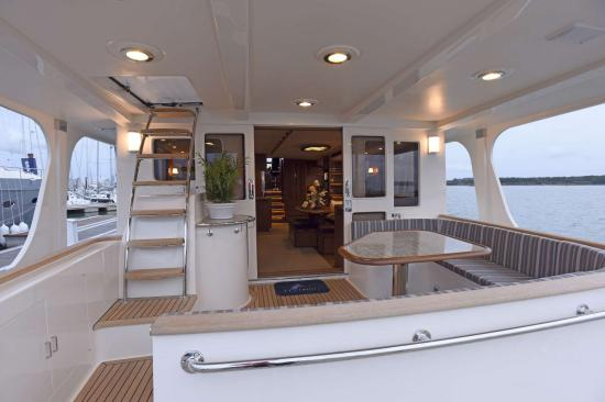 Fleming Yachts 78 california deck