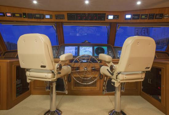 Fleming Yachts 78 captains chairs